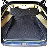 NOBER Dogs Cargo Liner Cover for Pets SUV Cars Waterproof Non Slip Universal Fit with Bumper Flap Black 52 82 Standard