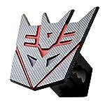 "5"" Transformer Decepticon Carbon fiber 3d Trailer Metal Hitch Cover Fits 2"" Receivers"