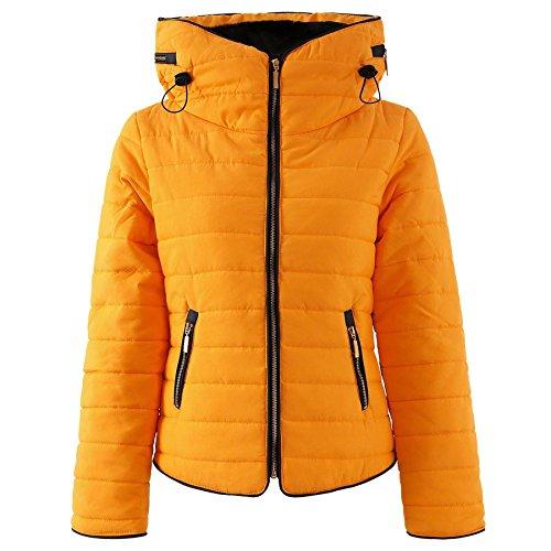 Forever Famous - Chaqueta - abrigo - para mujer Mostaza