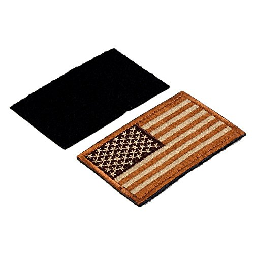 USA Tactical Morale American Flag Patch with Velcro / Made-to-Fit operator  hats, military uniforms, molle-equipped 5 11 backpacks, and Condor &