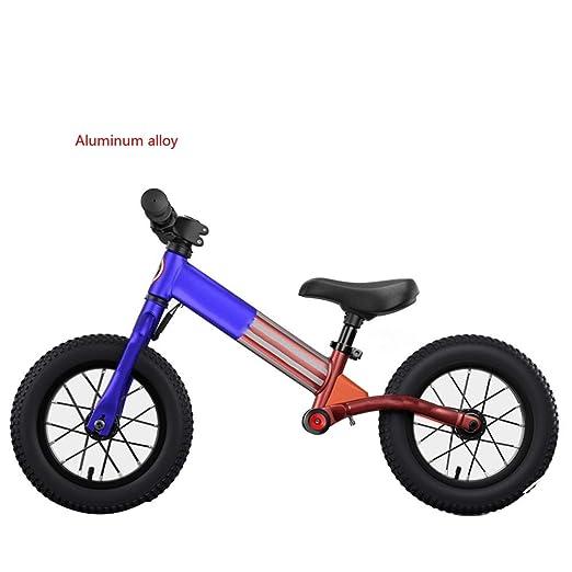 YUMEIGE Bicicletas sin pedales Bicicletas sin pedales Aleación de aluminio, Bicicleta Sin Pedales rueda neumática, Bicicleta de Equilibrio para niños 2-6 años, carga 30 kg, altura de uso 31.4-51.1 pul: Amazon.es: Jardín