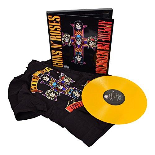 Guns N Roses Collectible 2009 Bravado GNR Yellow Vinyl LP Record/Shirt Box Set (S)