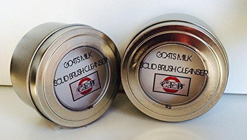 CEB Cosmetics Solid Brush Cleanser 4 Oz. ORGANIC GOATS MILK