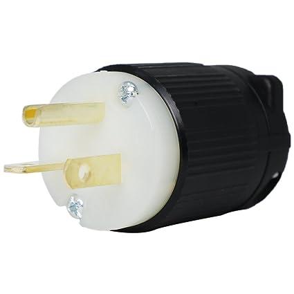 5-20p plug - nema straight blade 20 amp, 125v power cord plug - electric  plugs - amazon com