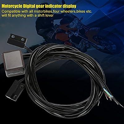TM color azul Yosoo /Indicador de marchas digital universal de cambio Sensor de palanca de luz de moto /