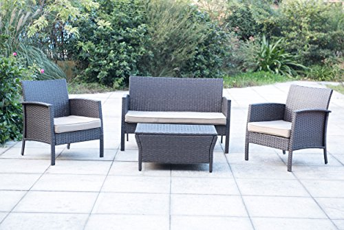 Sunjoy 4Pc Wicker Seating Set With Storage Table Benefits