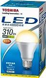 東芝 E-CORE(イー・コア) LED電球 一般電球形 5.6W(密閉器具対応・フィンレス構造・口金直径26mm・白熱電球20W相当・310ルーメン・電球色) LDA6L/3