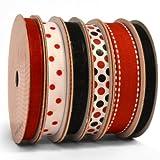 Morex Ribbon Paquete de 6 Dulce Cinta pequeñas, Rojo y Negro