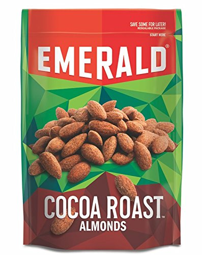 Emerald Cocoa Roast Almonds, Stand Up Resealable Bag, 5 Ounce