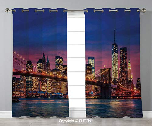 Grommet Blackout Window Curtains Drapes [ New York,NYC