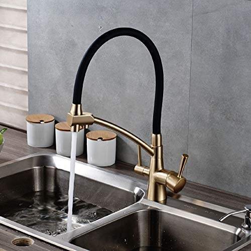 Decorry Brand New Kitchen Sink Faucet Tap Pure Water Filter Mixer Crane Dual Handles Purification Kitchen Hot and Cold Faucet