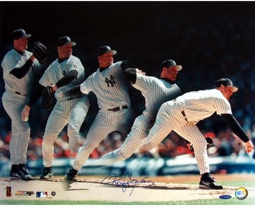 Roger Clemens Yankees Multi-Exposure 16x20 Autographed Signed Photo TS Auth MLB AUTH - Authentic Signature