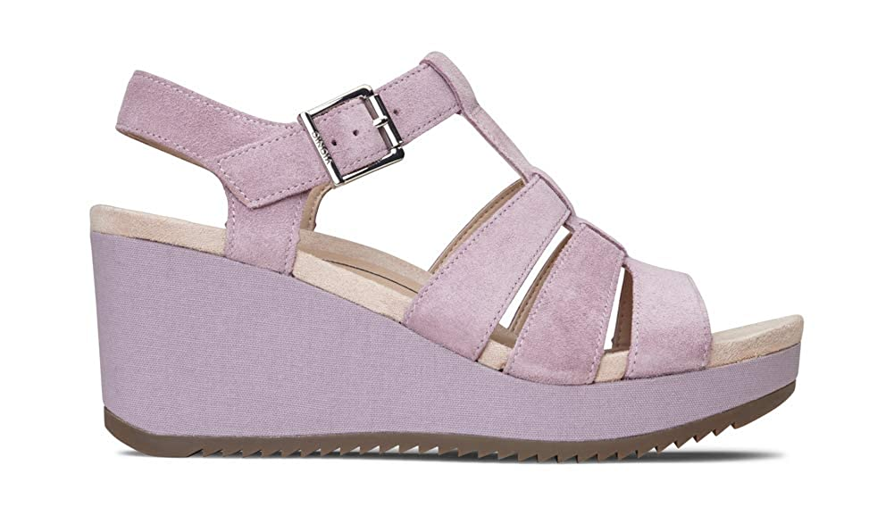 542e8b9a70ba Amazon.com  Vionic Women s Hoola Tawny T-Strap Wedge - Ladies Platform  Sandal with Concealed Orthotic Arch Support  Shoes