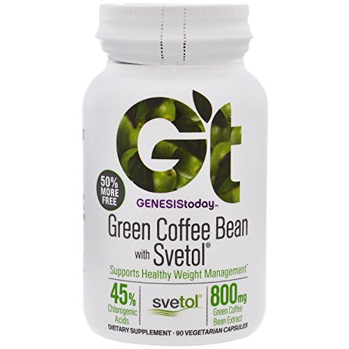 Genesis Today 100% Pure Green Coffee Bean Extract with SVETOL 60 Caps