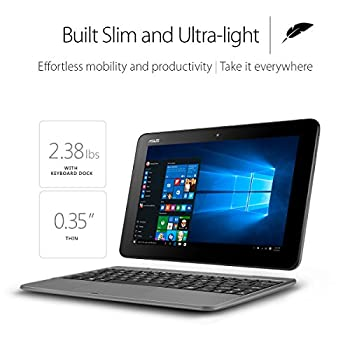 Asus Transformer Book T101ha-c4-gr 10.1-inch 2-in-1 Ultraportable Laptop With Intel Core X5 1.44 Ghz 4gb 64gb Hd Windows 10 Touchscreen, Gray 1