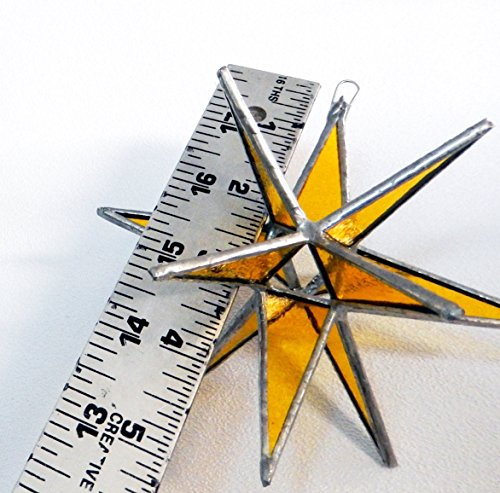 Gold Star, Stained Glass Star, Moravian Star, Yellow Star, Holiday Star, Christmas Star ()
