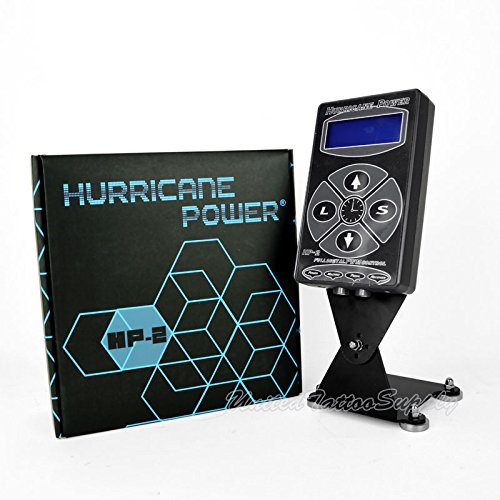 Hurricane HP-2 Black Dual Digital LCD Tattoo Power Supply - 2013 New Version (Hurricane Coil)