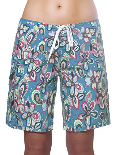 c8a8f8634a8d Maui Rippers Women's 4-Way Stretch 9″ Swim Shorts Boardshorts ...
