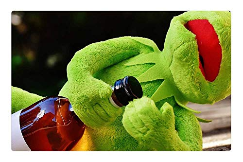 Tree26 Indoor Floor Rug/Mat (23.6 x 15.7 Inch) - Kermit Frog Drink Alcohol Drunk Rest Sit Figure 4