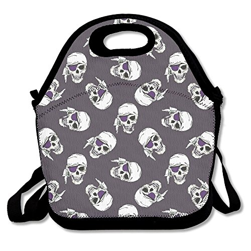 Skull Rose Women Face Portable Lunch Box Bag Insulated Waterproof Office Storage Handbag For Women, Adults, (Cowboy Dome Lunch Box)