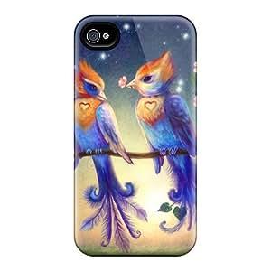 New DKR1173vaZY Love Bird Skin Case Cover Shatterproof Case For Iphone 4/4s