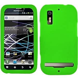 Premium Silicone Skin Case Cover For Motorola Photon 4G MB855 - Neon Green
