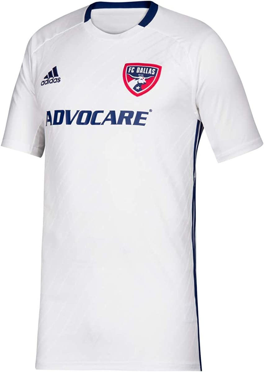 adidas FC Dallas MLS Youth White Official Climalite Team Replica Jersey