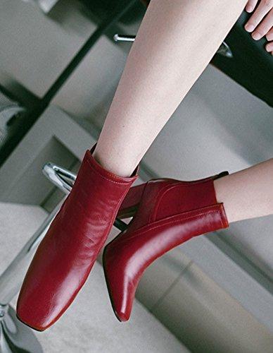 Femme Moyen Carr Talon Mode Aisun Bloc Bout fwH6qpp8