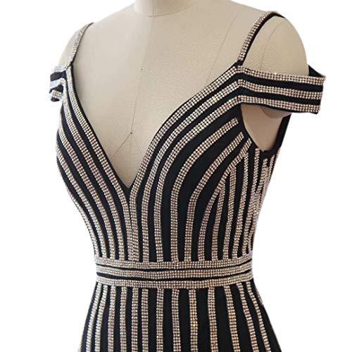 rmeln Kleider Prom mit Strass Love Schwarz Lange King's Frauen Langen Formale Maxi Abendkleider B08zBPqnx