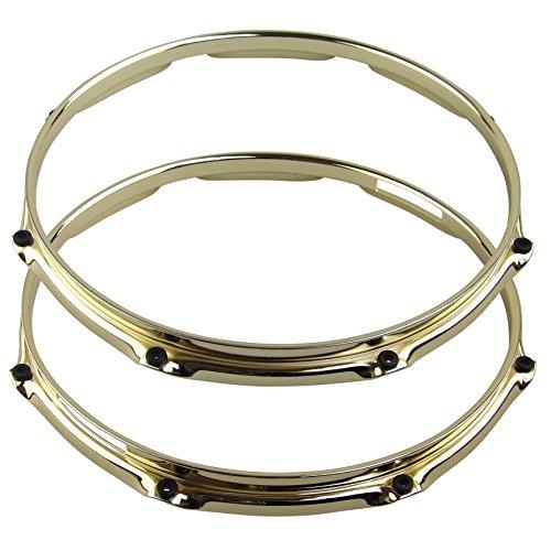 Z-ED XB1208PR 12-Inch Triple Flange Brass Hoop with 8 Lug Snare Pair (Flange Hoop)