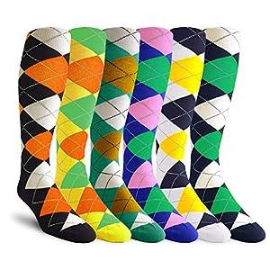 Argyle Golf Socks: Over-the-Calf Bundle Pack