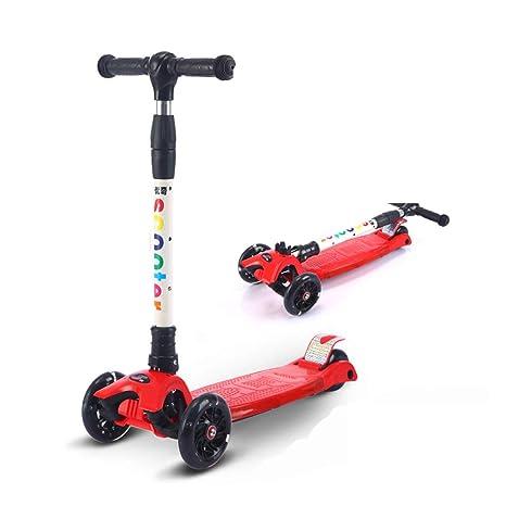 Patinete scooter plegable con 3 ruedas para niños de 3-13 ...