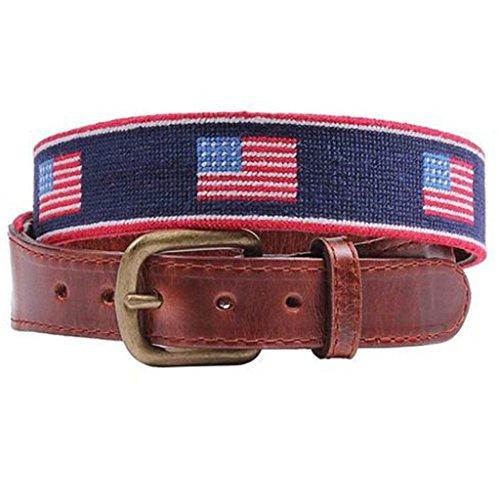 American Flag Stripe Needlepoint Belt by Smathers & - Needlepoint Flag