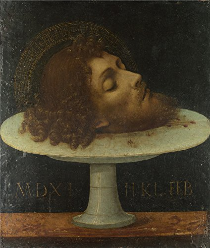 The Polyster Canvas Of Oil Painting 'Italian The Head Of Saint John The Baptist ' ,size: 30 X 35 Inch / 76 X 90 Cm ,this Replica Art DecorativeCanvas Prints Is Fit For Basement Decor And Home Decor And Gifts
