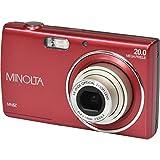 Minolta 20 Mega Pixels Digital Camera, 5x Optical Zoom & HD Video with 2.7 LCD, Red (MN5Z-R)