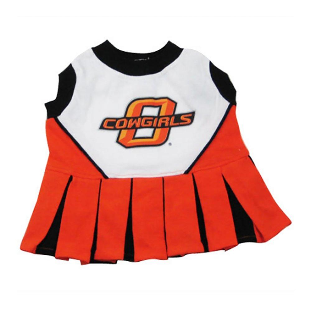 M Pets First Collegiate Oklahoma State University Dog Cheerleader Outfit, Medium