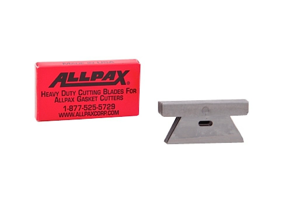 Allpax AX1601 Cutting Blades for Heavy-Duty Gasket Cutter, Steel (Pack of 6)