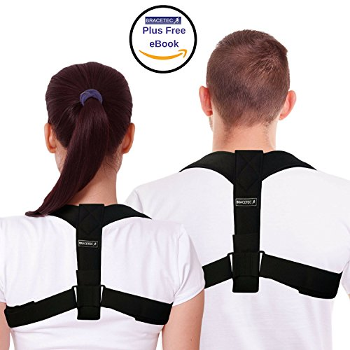 Posture Corrector Brace – The Perfect Solution for Hunched Shoulders and Slouching – Includes Bonus eBook for Faster Results – Comfortable, Adjustable and Invisible Under Clothing. Size - Regular