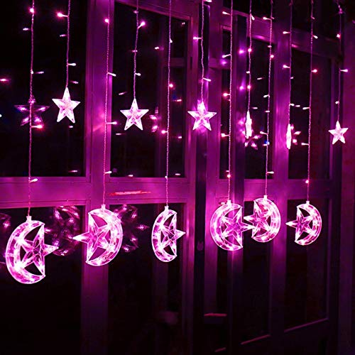 1 Pack 2.5m 138x LED Night Light Romantic Fairy Star Curtain String Christmas Lights Girls Lamp Overwhelming Fashionable Unicorn Bulbs Wall Room Lamps Indoor Outdoor Holiday Decorative, Type-05