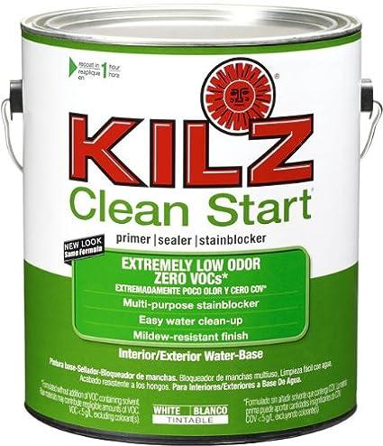 KILZ Clean Start Extremely Low Odor, Zero VOC Interior/Exterior Primer,  Sealer,