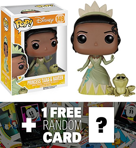 Princess Tiana & Naveen: Funko POP! x Disney The Princess & The Frog Vinyl Figure + 1 FREE Classic Disney Trading Card Bundle [50870]
