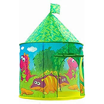 Dinosaur Castle Tent PLAY10 Playhouse Children Pop up Play Tent for Kids Indoor u0026 Outdoor Fun  sc 1 st  Amazon.com & Amazon.com: Dinosaur Castle Tent PLAY10 Playhouse Children Pop up ...