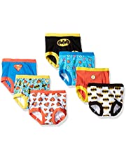 DC Comics Boys Toddler Superman, Batman and More Training Pants