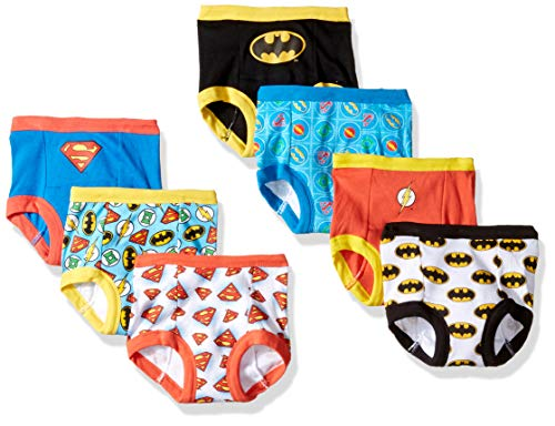 DC Comics Boys Toddler Superman, Batman and More Training Pants, Justice League, 3T, 7-Pack