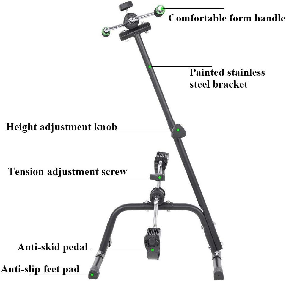 Ejercitador de pedal y pierna plegable, bicicleta de ejercicios ...