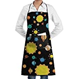 Planets Sun Solar System Baking Aprons Chef Kitchen Aprons With Pocket