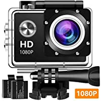 Rzmxva Sport 1080P Full HD Waterproof Underwater Action Camera