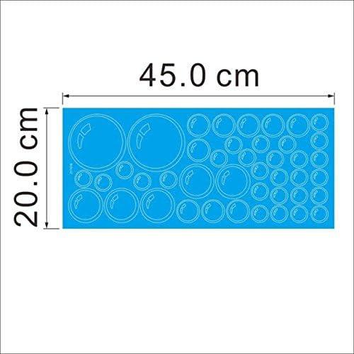 MOIKA Stickers Muraux Enfants Bulles Cercle Fen/être Autocollant Decal DIY D/écoration Amovible Fond d/écran 3D Vinyle pour la Maison Salon Papier Peint Autocollant Affiche (Bleu)