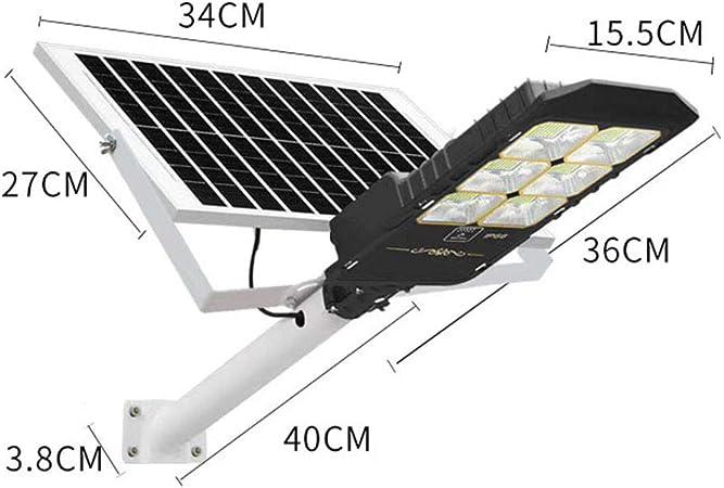 Farola Solar 300W de ingeniería de Alto Perfil, luz de Calle súper Brillante, luz de jardín Impermeable al Aire Libre, luz de Calle de 6 Metros, 3.2V / 40000MAH: Amazon.es: Hogar