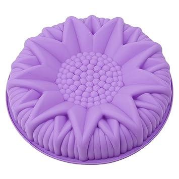Gluckliy - Molde de silicona con forma de flor para fondant de girasoles, moldes para pasteles, repostería, bandejas de horno: Amazon.es: Hogar